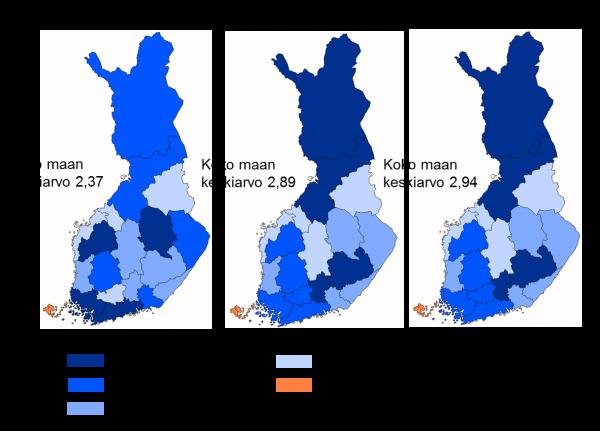 Liikenneinfrastuktuurin kuntoarviot Suomessa maakunnittain