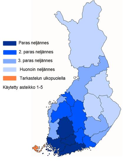 Yritysten logistiset toimintaedellytykset Suomessa suuralueittain